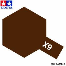 【タミヤ】 タミヤカラ— アクリルミニ(光沢) X-9 ブラウン 【玩具:プラモデル:工具・材…