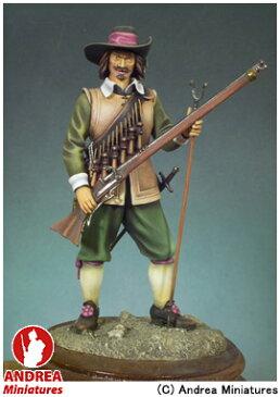 【アンドレア・ミニチュアズ】 クラシックス 90mm 組立キット S8-F4 マスケット銃兵(1643年) 【玩具:模型:人物】【クラシックス 90mm 組立キット】【ANDREA MINIATURES】