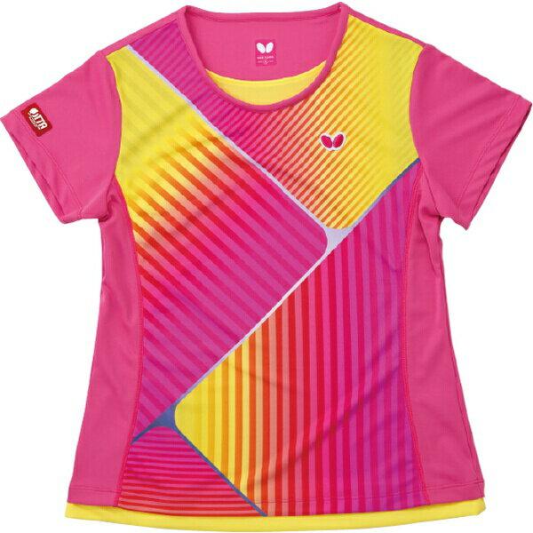 【バタフライ】 レイカレード・シャツ(レディース) 卓球ウェア [カラー:ピンク] [サイズ:XO] #45029-008 【スポーツ・アウトドア:卓球:ウェア:レディースウェア:シャツ】【BUTTERFLY】