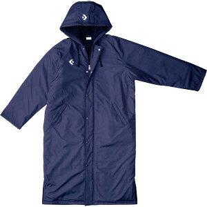 【コンバース】 ロングコート [サイズ:OXO] [カラー:ネイビー] #CB162601-2900 【スポーツ・アウトドア:スポーツウェア・アクセサリー:ベンチコート:メンズベンチコート】【CONVERSE】