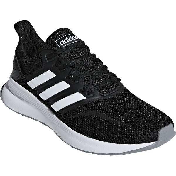 【アディダス】 FALCONRUN W [サイズ:23.5cm] [カラー:コアブラック×ホワイト×グレー] #F36218 【靴:レディース靴:スニーカー】【ADIDAS】