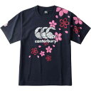 【カンタベリ—】 ジャパンワンチームブロッサムティ(メンズ) [サイズ:M] [カラー:ネイビー] #RA30301-29 【スポーツ・アウトドア:ラグビー:ウェア】【CANTERBURY JAPAN ONE TEAM BROSSOM TEE】