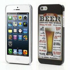 【楽天スーパーSALE 半額以下】iPhone5/iPhone 5s プリントハードケース ビールA 【iPhone5 / i...