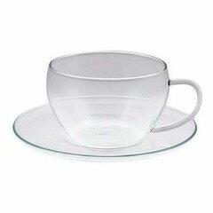 後払い・コンビニ払いOK!セレック ガラスカップ&ソーサー クリア GCS-1 【セレック: キッチン...