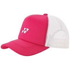 【ヨネックス】 メッシュキャップ(ユニセックス) [カラー:ブライトピンク] #40007-122 【スポーツ・アウトドア:テニス:メンズウェア:帽子・バイザー】【YONEX】