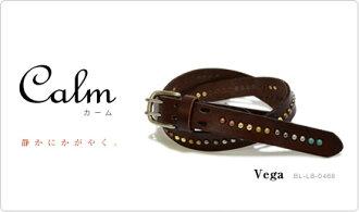 『 Calm-Vega-』 細み 다양 한 색상의 스 탓 즈가 가득, 맛 있는 7 가지 색소, 가죽 소재 감이 너무 기분 좋은 スタッズベルト