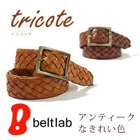 『 Tricote-트리 코 테-』 엄선 깊은 6 색 고풍 스러운 가죽 소재 감, 사각 골드 버클 메쉬 벨트 Belt