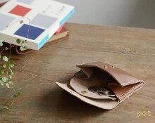 【財布小銭入れカードケース日本製栃木レザー】『pot-ポット-』大きく開く小銭入れ、ハンドメイドで心地いい牛革の手触り、カードもお札も入るコンパクトな革財布サイフさいふ財布メンズレディースMEN'SLADY'S男性用レデイース紳士用ladies