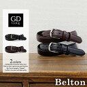 ベルト メンズ グッドロング goodlong 牛革 シングルピン カジュアル ベルトカット可 men's ladies belt ブラック ダークブラウン 黒 濃茶 ベルトン Belton
