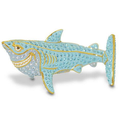 【取寄せ】ディズニー(Disney)US公式商品 ファインディングニモ フィギュア 置物 人形 アリバスブラザーズ ジュエリー [並行輸入品] Finding Nemo Jeweled Figurine by Arribas - Bruce:ビーマジカル