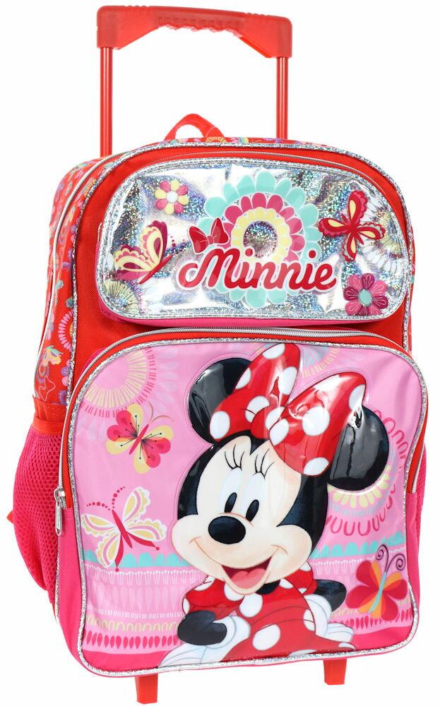 【3月25日発送】ディズニー Disney ミニー ミニーマウス スーツケース キャリーバッグ 旅行 バッグ 鞄 キャリーケース ころころ 女の子 子供 子供用 キッズ [並行輸入品] クリスマス 誕生日 プレゼント ギフト クリスマス 誕生日 プレゼント ギフト