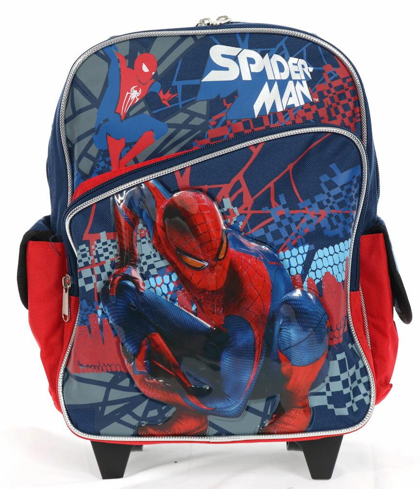 【3月25日発送】ディズニー Disney スパイダーマン スパイダー スーツケース キャリーバッグ リュックサック 兼用 旅行 バッグ 鞄 キャリーケース ころころ 男の子 子供 子供用 キッズ [並行輸入品] クリスマス 誕生日 プレゼント ギフト