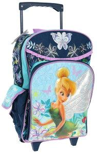 【1-2日以内に発送】【L】 ディズニー Disney ティンカーベル フェアリーズ スーツケース キャリーバッグ リュックサック 兼用 旅行 バッグ 鞄 キャリーケース ころころ 女の子 子供 子供用 キッズ [並行輸入品] クリスマス 誕生日 プレゼント ギフト