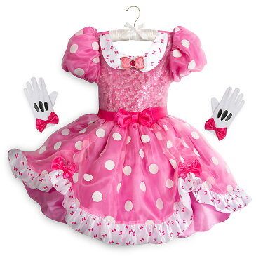 【1-2日以内に発送】ディズニー Disney US公式商品 ミニーマウス コスチューム 衣装 ドレス 服 コスプレ ハロウィン ハロウィーン 服 コスプレ 子供用 キッズ 女の子 男の子 [並行輸入品] Minnie Mouse Costume for Kids - Pink グッズ ストア プレゼント ギフト