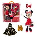 【1-2日以内に発送】 ディズニー Disney US公式商品 ミニーマウス ミニー 人形 ドール 着せ替え フィギュア おもちゃ セット [並行輸入品] Minnie Mouse Doll Holiday Fashion Set グッズ ストア プレゼント ギフト クリスマス 誕生日 人気