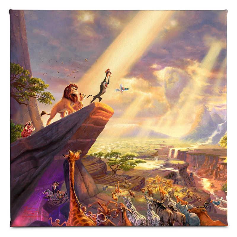 キッズ・ベビー・マタニティ, その他  Disney US Thomas Kinkade The Lion King Gallery Wrapped Canvas