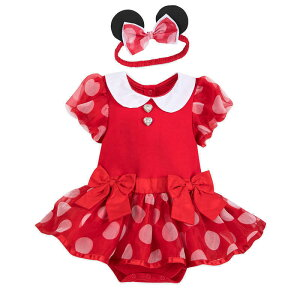 【1-2日以内に発送】 ディズニー Disney US公式商品 ミニーマウス ミニー コスチューム 衣装 ドレス 服 コスプレ ハロウィン ハロウィーン ロンパース ボディスーツ ボディースーツ ベビー 赤ちゃん 幼児 女の子 男の子 [並行輸入品] Minnie Mouse Costume Bodysuit fo