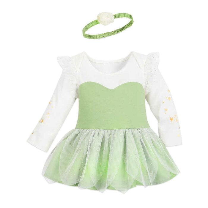 【1-2日以内に発送】 ディズニー Disney US公式商品 ティンカーベル コスチューム 衣装 ドレス 服 コスプレ ハロウィン ハロウィーン ロンパース ボディスーツ ボディースーツ ベビー 赤ちゃん 幼児 女の子 男の子 [並行輸入品] Tinker Bell Costume Bodysuit for Baby