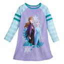 【あす楽】 ディズニー Disney US公式商品 アナ雪2 アナと雪の女王 アナ雪 2 プリンセス アナ エルサ 長袖 長そで 服 パジャマ 寝巻き 部屋着 女の子用 子供用 女の子 ガールズ 子供 [並行輸入品] Anna and Elsa Long Sleeve Nightshirt for Girls Frozen II グッ