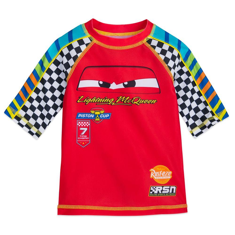 ラッシュガード, キッズ・ジュニア用ラッシュガード  Disney US Cars Lightning McQueen Rash Guard for Boys