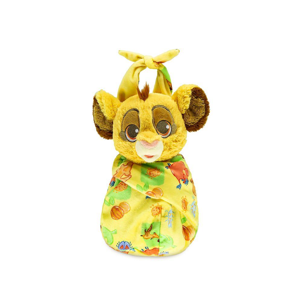 キッズ・ベビー・マタニティ, その他  Disney US 25cm Babies Simba Plush Doll in Pouch ? The Lion King Small 10
