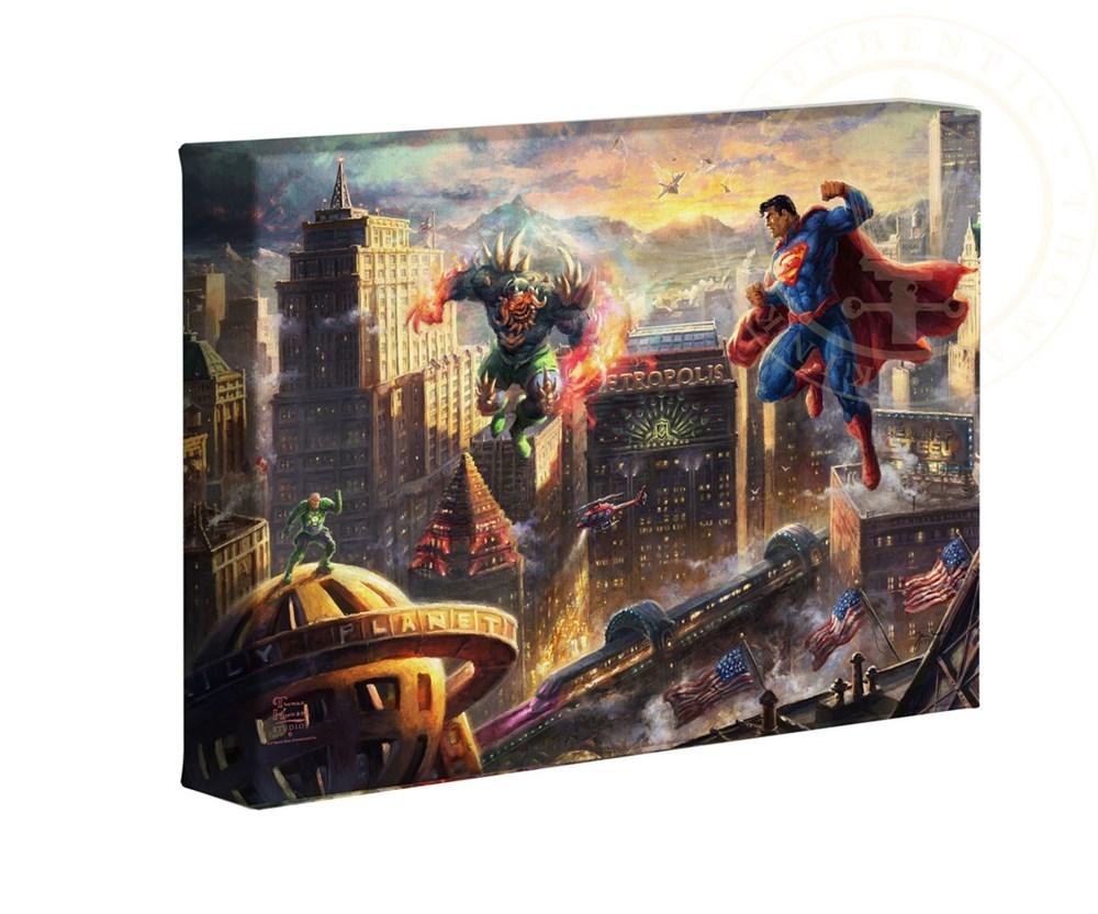 【取寄せ】 DCコミックス スーパーヒーロー スーパーマン 大きさ 40.6cm x 60.9cm 絵画 絵 アート キャンバス インテリア 装飾 デザイン 壁 Thomas Kinkade トーマスキンケード [並行輸入品] Thomas Kinkade Studios DC Super Hero Fine Art Superman - Man of Steel 16画像