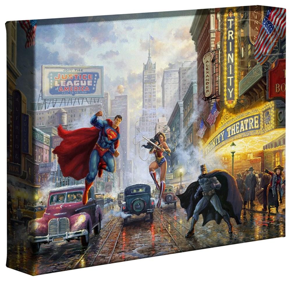 【取寄せ】 DCコミックス スーパーヒーロー スーパーマン バットマン ワンダーウーマン マーベル 大きさ 20.3cm x 25.4cm 絵画 絵 アート キャンバス インテリア 装飾 デザイン 壁 Thomas Kinkade トーマスキンケード [並行輸入品] Thomas Kinkade Studios DC Super Her画像