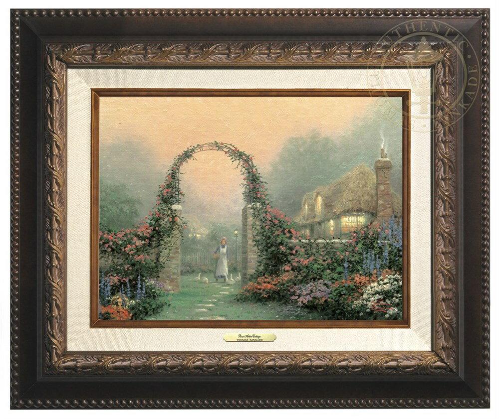 【取寄せ】 風景 景色 自然 絵画 絵 アート キャンバス インテリア 装飾 デザイン 壁 額付き フレーム付き (Aged Bronze Frame) Thomas Kinkade トーマスキンケード 風景画 [並行輸入品] Thomas Kinkade The Rose Arbor Cottage - Canvas Classic (Aged Bronze Frame)画像