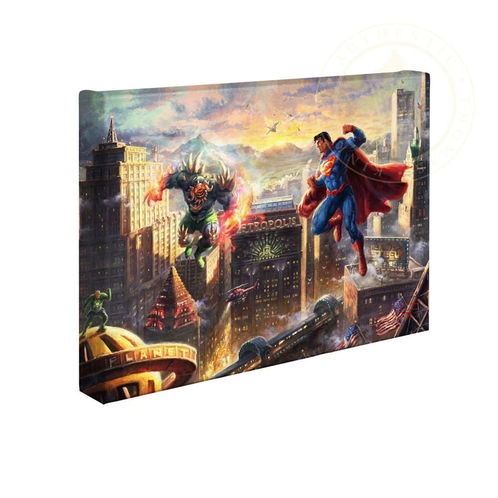 【取寄せ】 DCコミックス スーパーヒーロー スーパーマン 大きさ 25.4cm x 35.5cm 絵画 絵 アート キャンバス インテリア 装飾 デザイン 壁 Thomas Kinkade トーマスキンケード [並行輸入品] Thomas Kinkade Studios DC Super Hero Fine Art Superman - Man of Steel 10画像