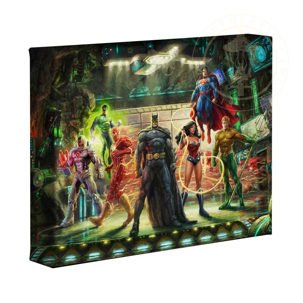 【取寄せ】 DCコミックス スーパーヒーロー ジャスティスリーグ 大きさ 20.3cm x 25.4cm 絵画 絵 アート キャンバス インテリア 装飾 デザイン 壁 Thomas Kinkade トーマスキンケード [並行輸入品] Thomas Kinkade Studios DC Super Hero Fine Art The Justice League 8画像