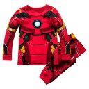 【取寄せ】 ディズニー Disney US公式商品 アイアンマン マーベル パジャマ 寝巻き 部屋着 服 コスチューム 衣装 ドレス コスプレ ハロウィン ハロウィーン 男の子用 子供 男の子 ボーイズ [並行輸入品] Iron Man Costume PJ PALS for Boys グッズ ストア プレゼント ギフト