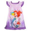 【取寄せ】 ディズニー Disney US公式商品 リトルマーメイド アリエル Ariel プリンセス パジャマ 寝巻き 部屋着 服 女の子用 子供用 女の子 ガールズ 子供 [並行輸入品] The Little Mermaid Nightshirt for Girls グッズ ストア プレゼント ギフト クリスマス 誕生日 人気
