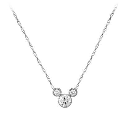 【取寄せ】ディズニー Disney US公式商品 ミッキーマウス ネックレス ジュエリー アクセサリー 【中サイズ】 [並行輸入品] Mickey Mouse Necklace - Medium