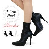 ショートブーツ ピンヒール ポインテッドトゥ ブーツ ヒール12cm 美脚 ハイヒール プラチナドゥ Platino deux レディース ヒール (2395) ショートブーツ 靴 【送料無料】