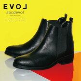 EVOL サイドゴアブーツ ブーツ ショートブーツ ローヒール アーモンドトゥ 4cmヒール abcdevol レディース (30199) ショートブーツ サイドゴアブーツ 【送料無料】