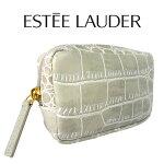 エスティローダークロコダイル調ホワイトミニポーチ(001)【EsteeLauder】【W_34】