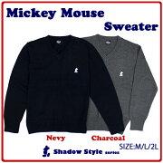 ミッキーマウス スクール セーター ネイビー レディース ディズニー