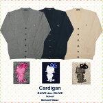 オリーブデオリーブスクールカーディガン【OLIVEdesOLIVE】レディーススクールカーデ綿100%ネイビー/ホワイト/グレー/ベージュ学生服