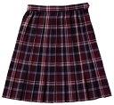 【送料無料】スクールスカート【BENCOUGAR femme】ワインチェック女子学生服 【532P19Apr16】