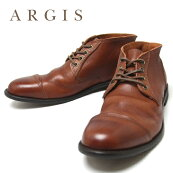 ARGIS(アルジス)チャッカブーツレザーシューズショートブーツきれいめ本革革靴ヴィンテージビンテージ日本製12103メンズ【ブラウン】