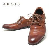 ARGISローカットレザーシューズメンズカジュアル25.5cm26.0cm26.5cm27.0cm27.5cm28.0cmBROWN91102/アルジスあるじす革靴本革牛革シューズ紐シューレース日本製国産ブランド茶ブラウン