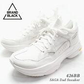 【2019年秋冬新作】BRANDBLACKブランドブラック『SAGA426BB』ダッドスニーカーメンズ25.5cm-28.5cmホワイト(WHT)45921/ダッドシューズ靴ローカット厚底VibramビブラムL.Aブランド
