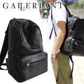 GALLERIANTガレリアントレザーリュックバックバッグビジネスバックパック鞄カバン本革高級感ラグジュアリー大人スタイリッシュGAW-3650CROLLAREメンズブラックグレー