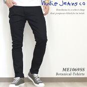 """NudieJeans""""LEANDEAN""""スリムテーパードブラックデニムメンズ29-31インチDRYEVERBLACK112498/ヌーディージーンズリーンディーンジーンズジーパンズボンボトムスパンツオーガニックコットンストレッチ黒"""