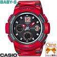 【正規品・送料無料!】CASIO/カシオBABY-G/ベビージーBGA-210/2100 Seriesワールドタイム レッド×グレー 赤×灰色 レディースタフソーラー電波 BGA-2100-4BJF