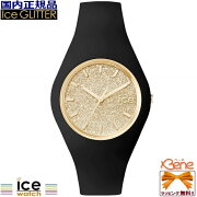 ICE-WATCH/アイスウォッチICE-glitterブラックゴールドユニセックス001355