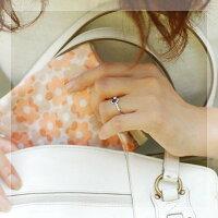 【送料無料】「リフレッソ」アイオライト×ローズカットダイヤモンドリング【smtb-m】
