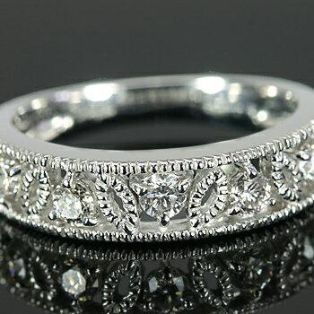 《ベーネブリリアント》  ブリリアントカットダイヤモンド ミル打ちアンティークデザインリング:ベーネ・ベーネ