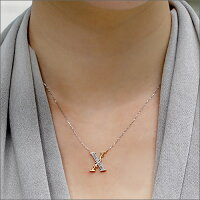 【新作】「X-ten」ペンダントネックレスローズカットダイヤモンドペンダントネックレス