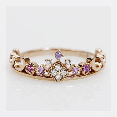 本物のティアラのよう!ピンクサファイヤxダイヤモンドリング:ベーネ・ベーネ